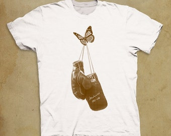 Ali Inspired Tribute Gloves Retired by Butterfly Scoop T-shirt- Shirt-Tee-Graphic-Muhammad