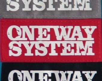 ONE WAY SYSTEM (182) punk patch