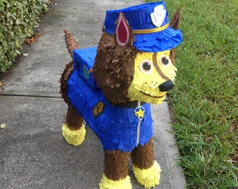 Paw Patrol Pinata Birthday. Chase the dog. Party Decorations and Supplies