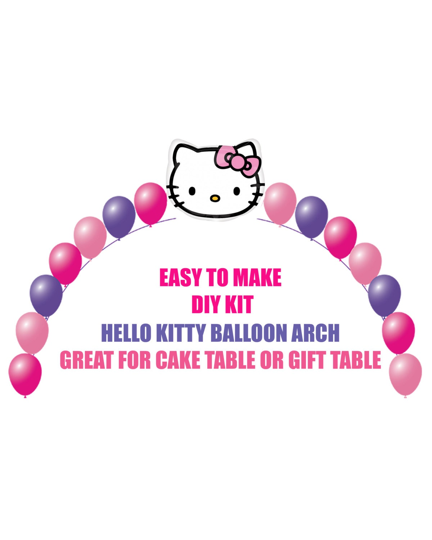 Design your own hello kitty t-shirt - Hello Kitty Birthday Balloons Hello Kitty Arch Balloon Party Decor Cake Table Gift Table Diy Kit Party Supplies Balloons