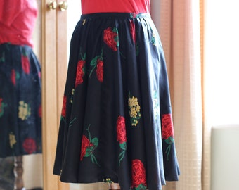 50s silk skirt size small