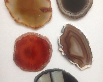 Orange/earth tone agate slice