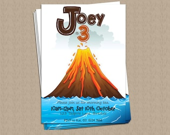 Volcano Personalised Party Invite DIGITAL