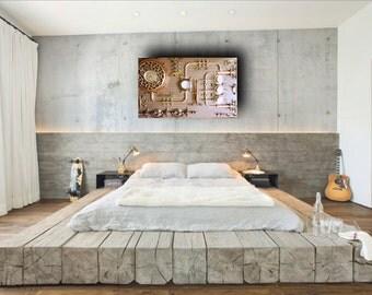 Modern,Abstract Industrial Art.Control Panel.Steampunk,Wall Art,Home Decor