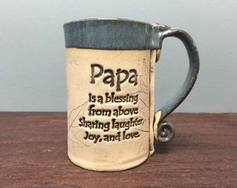 Papa stoneware mug
