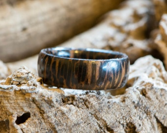 Wooden Ring , Palmira wood, handmade no.85