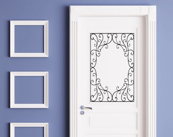 Wrought Iron scroll #49 - Vinyl Wall Art / Vinyl Sticker / Wall Decal / Vinyl Decal / Wall Art / Vinyl Art