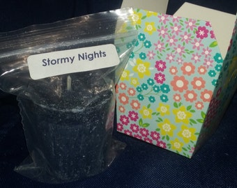 Palm Wax Votive--Stormy Nights Scented