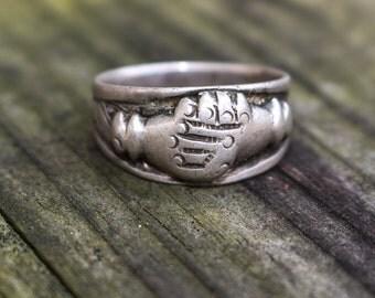 Vintage Mayan Ethnic Guatemalan Silver Ring