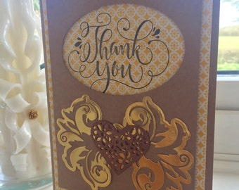 Specially hand made Thank you card