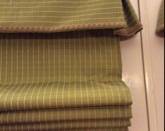 Lime Green Custom Roman shade, Valances, window treatments, curtains, home decor, toppers