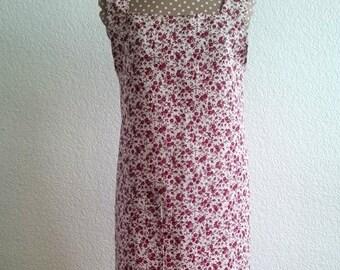 Apron Japanese Sandra linen floral patterned