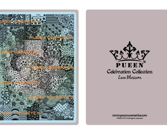 Lace Blossom Nail Art Stamping Image Plate by Pueen