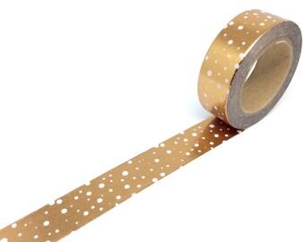 Bronze/Copper Snow drop washi tape