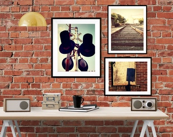 Set of 3 // Railroad Photos // Digital download // Instant download // Red Wing MN // railroad // train tracks // digital print