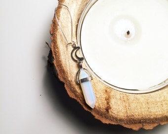 """Tunnel earrings """"Opal Moon"""""""