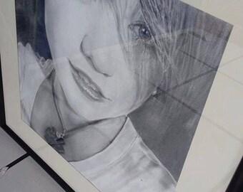 Realistic custom pencil portrait