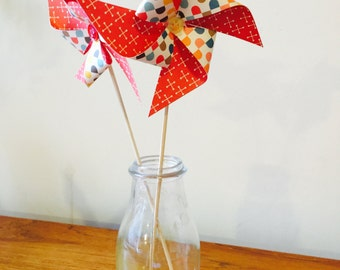 Pack of 10 decorative pinwheels