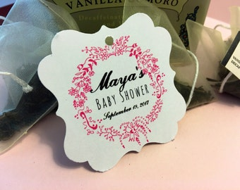 Thank you favor tags, bridal shower, baby shower, elegant, personalized