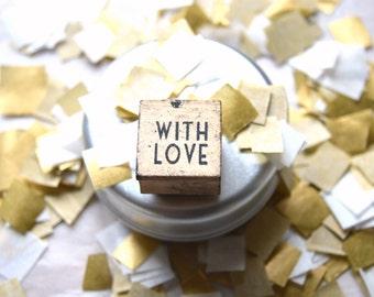 Gold&white confetti