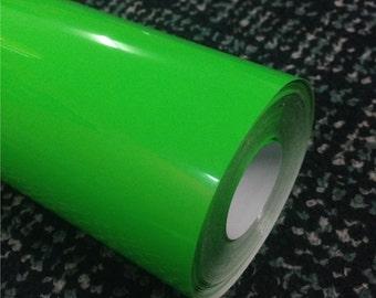Green Neon Textile Vinyl by Yeard/Meter x 19in (50cm) - Heat Transfer