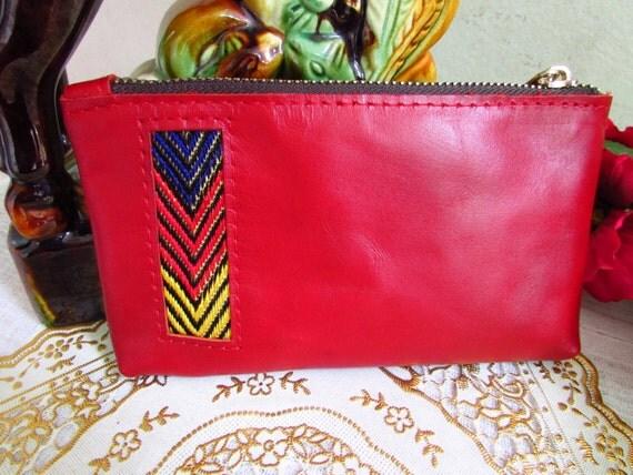 Red leather wallet, women coin purse, women mini wallet, women coin bag, leather pouches, women pouches, small leather wallet, zipper wallet