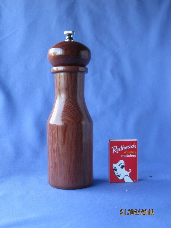 Unique handcrafted pepper mill grinder 175mm - Novelty pepper mill ...