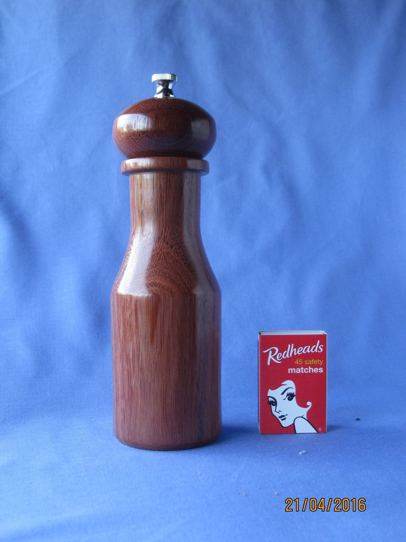 Unique handcrafted pepper mill grinder 175mm - Novelty pepper grinder ...
