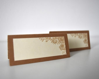 Rustic Kraft and Lace Place Cards