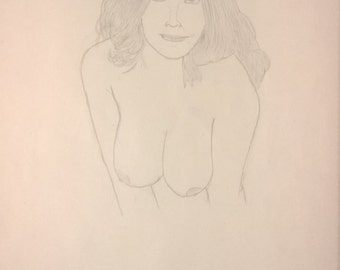 Naked Lady Pencil Drawing