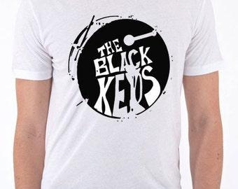 The Black Keys WHITE band logo T-shirt