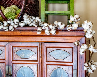 Cotton Boll 6' Garland Wreath