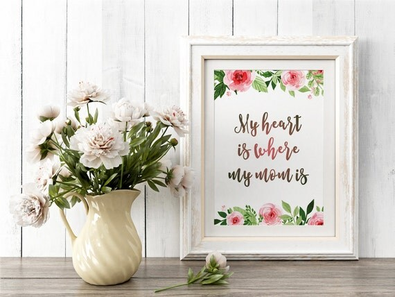 Mothers Day Print, Mothers Day Gift, Mothers day printable, Mother's day, Inspiration Print, Watercolor Wall Art, Watercolor flowers, Mother