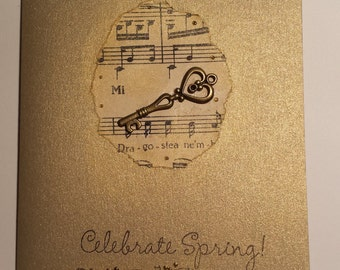 Celebrate golden spring- greeting card