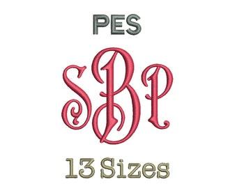 Carson Monogram Font Embroidery Fonts - 13 Size Monogram Fonts PES File Format Machine Embroidery Font Design -  Instant Download