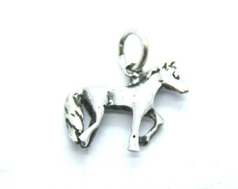 Horse Pendant Charm .925 Sterling Silver
