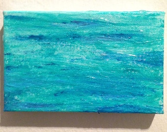 Waves 4x6 Abstract Painting