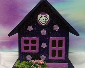 Fairy House. OOAK Purple, Blue or Lilac.
