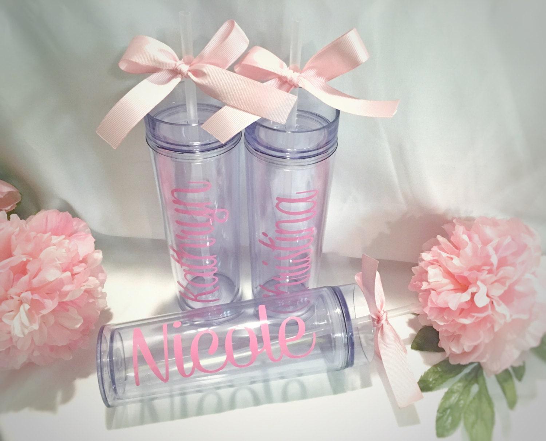 Unique Handmade Wedding Gifts: Personalized Tumbler Custom Tumbler Bridesmaid Gift Wedding