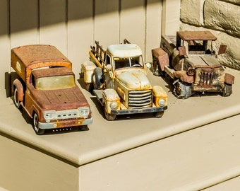Rusty Toy Cars Outside