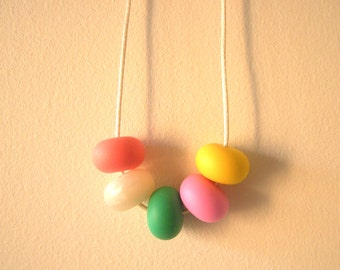 Girl's 'Rainbow Abacus Gum Drops' Silicone Beaded Necklace