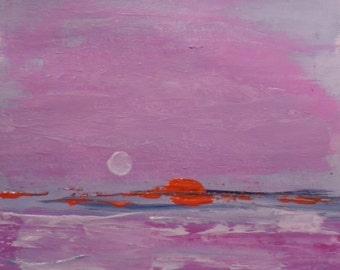 Mini painting on canvas