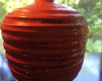 Bright Orange Rosenthal Netter Vase