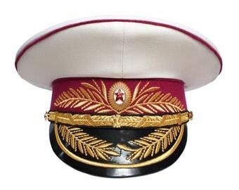Soviet Generals Parade Visor hat Ministry of Military Justice