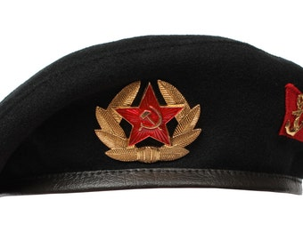 Soviet Military black hat Beret Soviet Marines