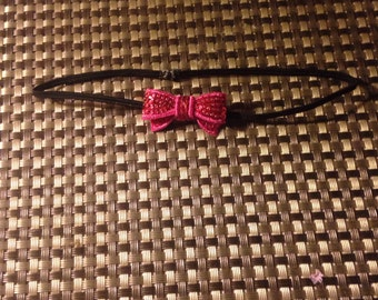 Newborn Pink Bow Headband