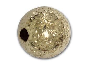 7mm Gold Filled Glitter Beads - 10 pcs