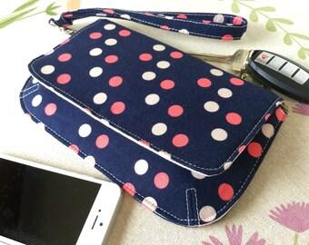 Polka dot purse