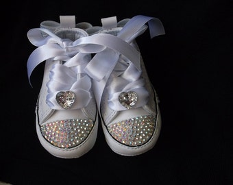 White Bling Converse Chuck Taylor