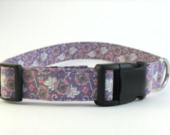 Purple with White Swirls